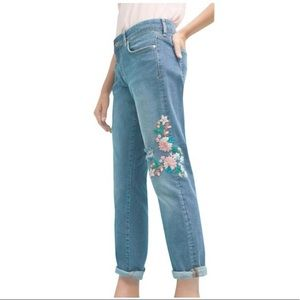 Anthropologie Pilcro Flower Embroidered Jeans